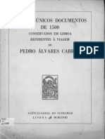 Os Sete Unicos Documentos de 1500
