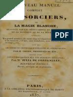 1837 de Fontanelle Nouveau Manuel Complet Des Sorciers