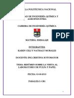 Resumen Visita Laboratorio de Pulpa y Papel 1