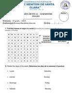Examen Mensual de Ingles