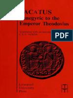 Panegyric to the Emperor Theodosius