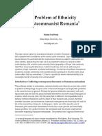 Marius Benta - The Problem of Ethnicity in Postcommunist Romania.doc