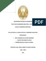Legislación Trabajo Grupal