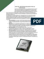 Clasificación Del Microprocesador Por Su Capacidad