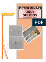DETERMINACION DE SOLIDOS TOTALES