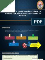 Tema 1 Introducción. Impacto Evolutivo de La Administración Dentro Del Contexto Mundial