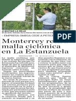 06-06-19 Monterrey retira malla ciclónica en La Estanzuela