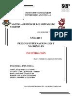 UNIDAD 4  PREMIOS INTERNACIONALES Y NACIONALES