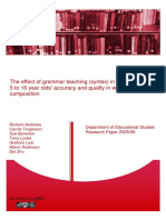 Of Grammar Teaching
