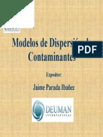 Presentación Modelación de Dispersión (III)