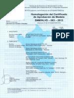 Homologación Nro. 003-2013-Indecopi - Mtk-s1 Dn15
