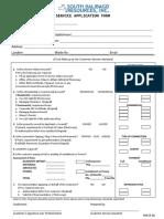 Service Application Form