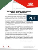 067 - Petroperú Presenta Sus Monólogos Femeninos