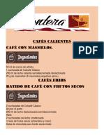 Cafés Calientes