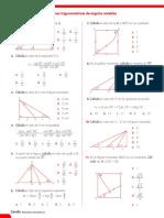 Ficha de Refuerzo - Razones Trigonométricas de Ángulos Notables