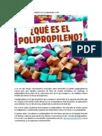 Ué Es El Polipropileno
