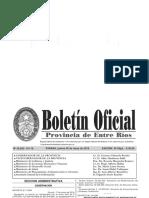 Boletin Entre Ríos 30 de Mayo de 2019