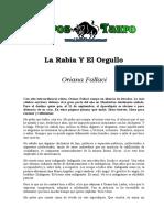 Fallaci, Oriana - La Rabia Y El Orgullo
