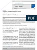 Cytogenetic Biomarkers of Radiation Exposure