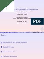 Interpolatio Poly Approx