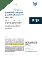 Fisiopatología de La Historia Natural de La Uropatía Obstructiva Secundaria a Obstrucción de Salida de La Vejiga Por Hiperplasia Benigna de Próstata - 2017