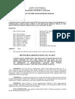 1 -municipal resolution Approving Monetization