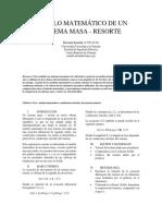 Lab #3. Modelo Matematico