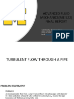 Ansys Fluent Project in Advanced Fluid Mechanics