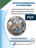 1) Programa de Gestión de Prevención de Riesgos Ocupacionales 2015