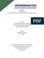 Actividad 7 Plan Medidas de Prevención y Control de Enfermedades de Origen Biológico
