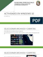 Actividades en Windows