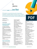 Full Recognition List