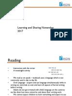 Learning and Sharing November