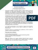 04 Evidencia 4 Dialogue Evaluating the Logistics Process
