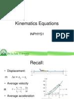 Kinematics Equations 1-D