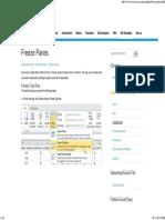 Freeze Panes in Excel - Easy Excel Tutorial
