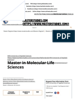 Master in Molecular Life Sciences, Arnhem, Netherlands 2019