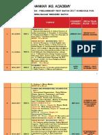 Prestomring Schedule for Anna Nagar Weekend Batch