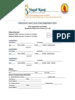 Harmonium and Vocal Class Registration Form