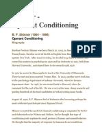 B.F. Skinner (Operant Conditioning Theory)