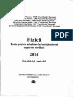 Fizica 2014 Admitere Umf Davila