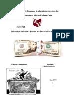 Inflatia Si Deflatia - Forme Ale Dezechilibrului Monetar