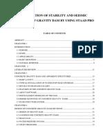 Gravity Dam Report Final