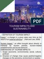 Tourism Impacts & Sustainability1