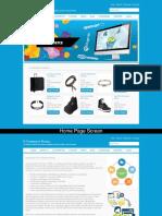 E-Commerce Portal ASP, C# and MySQL Project Screens