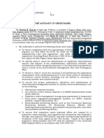 Affidavit of Joint Undertaking of the PCO and Managing Head 2