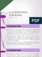 IV. Construction Surveys