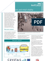 Traffic restraint and retail vitality