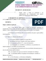 Decreto Presidencial Sobre Forma de Tratamento. O Que Muda Na Correspondência Oficial 8-2019-1