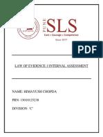 Evidence Law- I